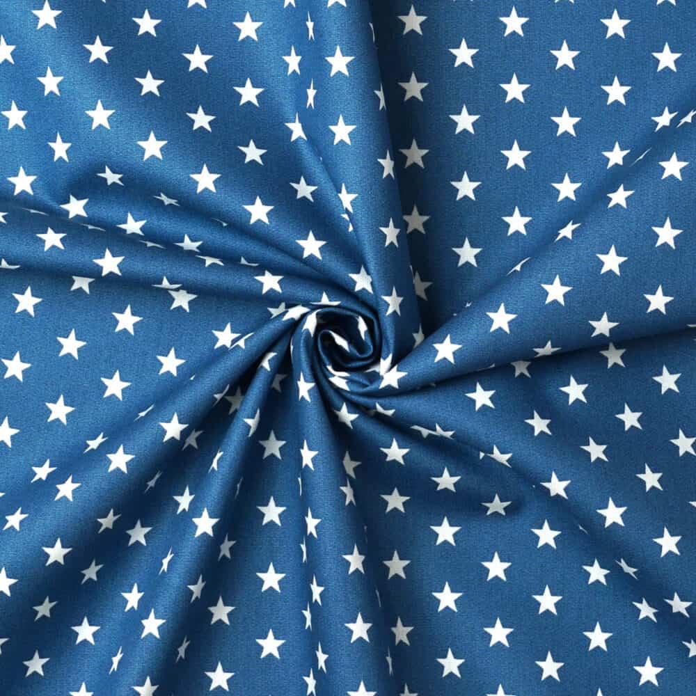 Popeline - Sterne Blau