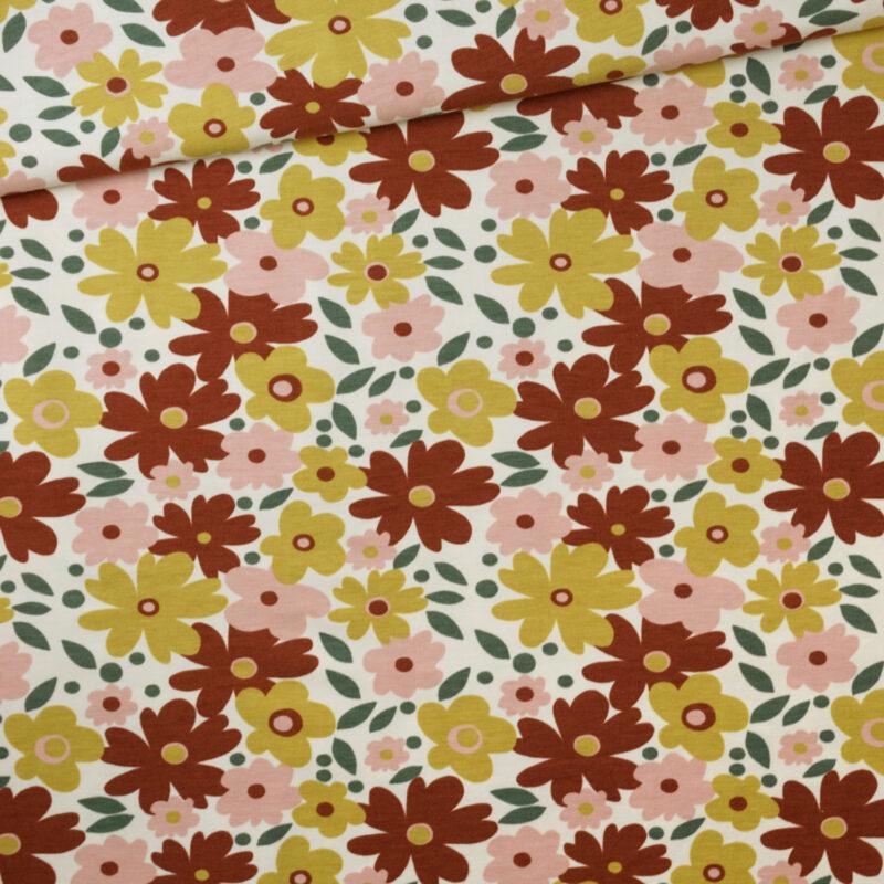 Bio-Jersey - Herbstblumen - Elvelyckan Design