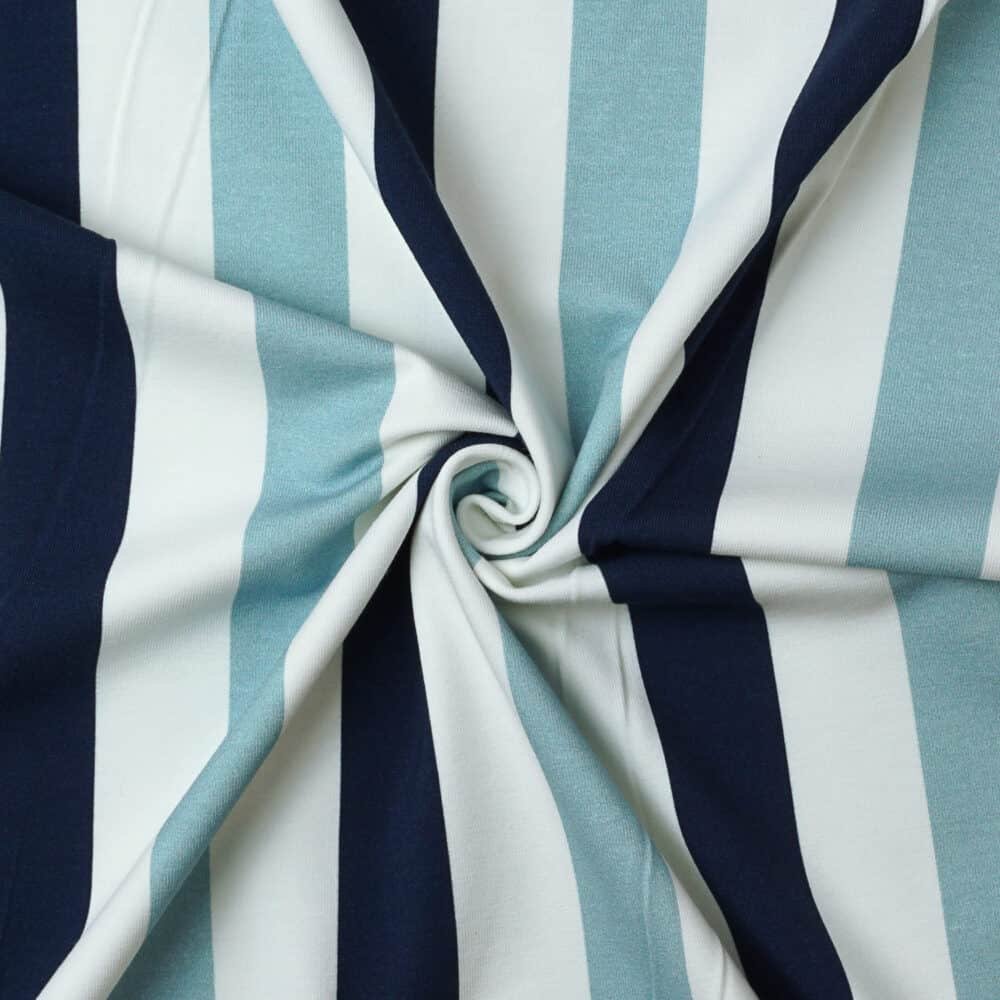 Bio-Jersey - Streifen blau - Joseli Design