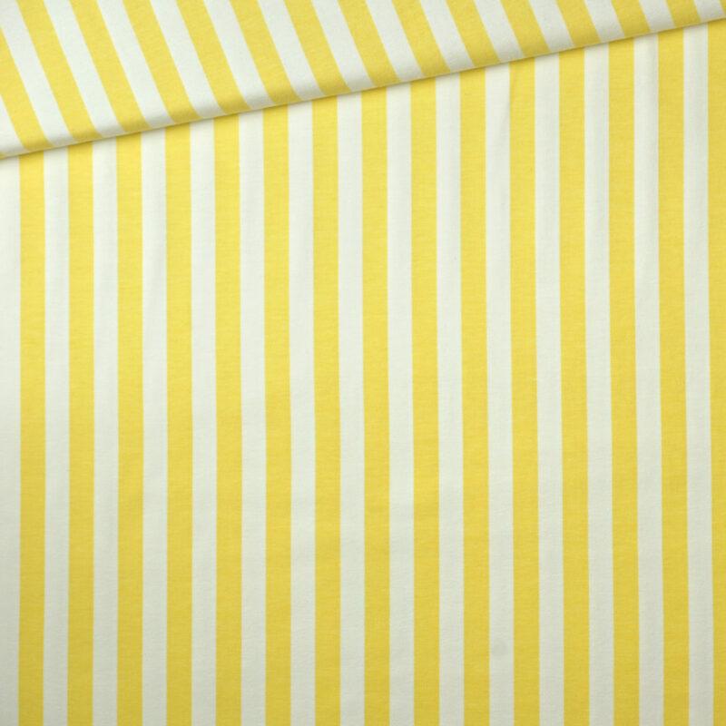 Bio-Jersey - Streifen gelb - Tygdrömmar