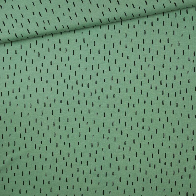 Bio-Jersey - Striche mint