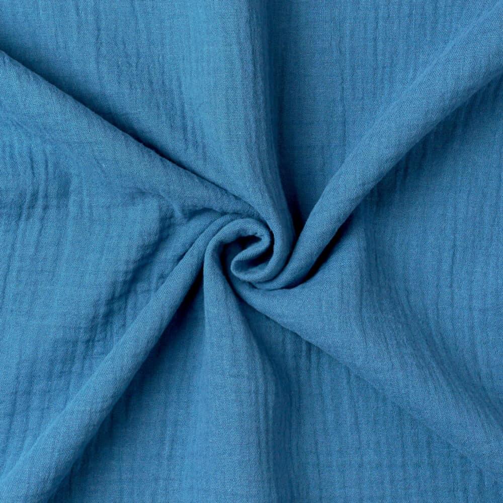 Bio Double Gauze - Jeansblau