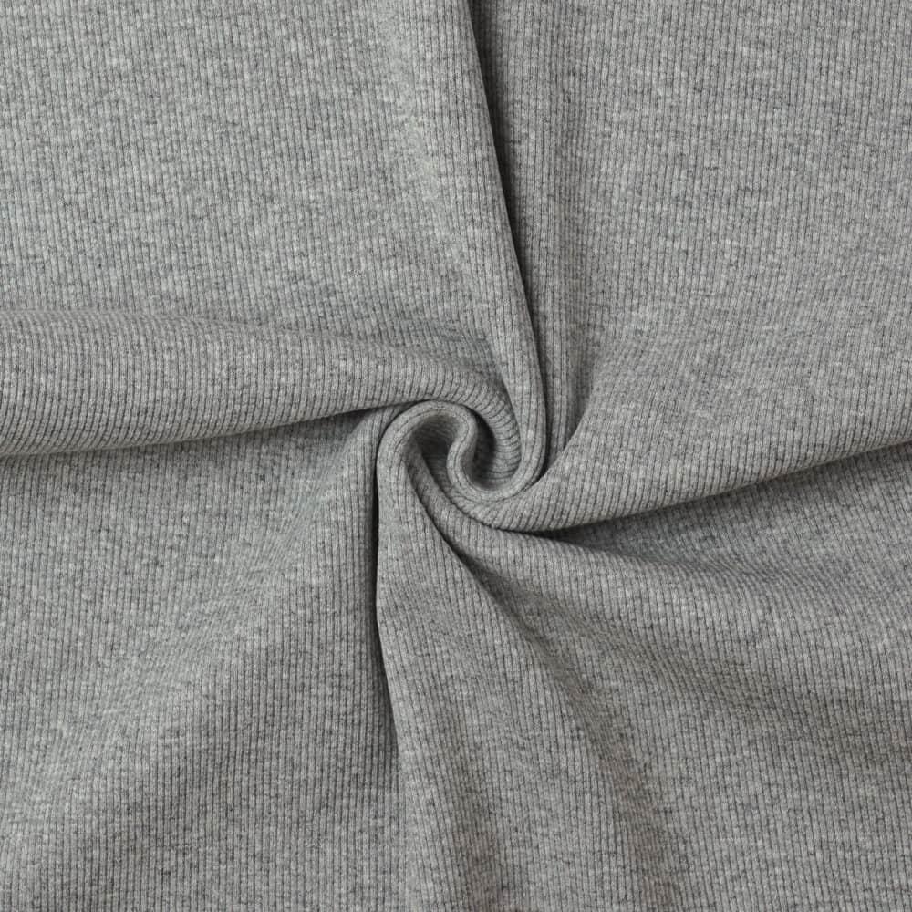 Bündchen - Ripp Grau meliert