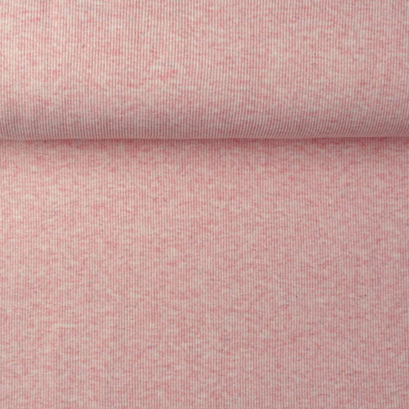 Ripp-Bündchen - Rosa meliert