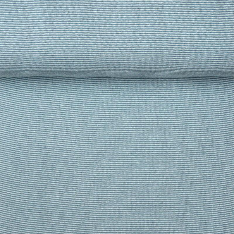 Bündchen - Mini-Streifen hellblau