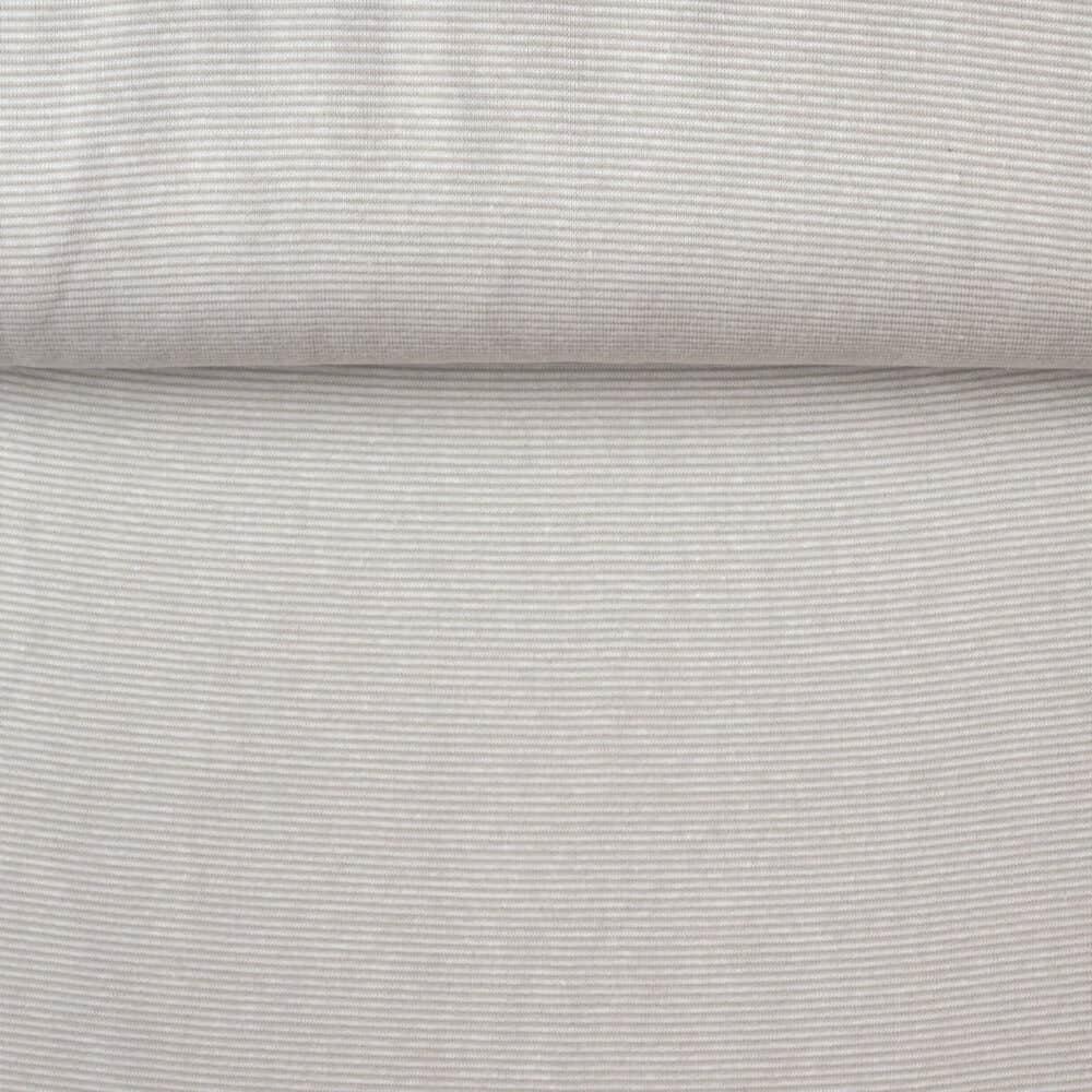 Bündchen - Mini-Streifen sand