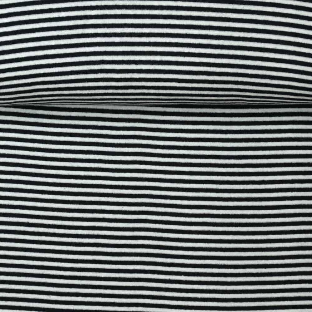 Bündchen - Streifen schwarz-weiß