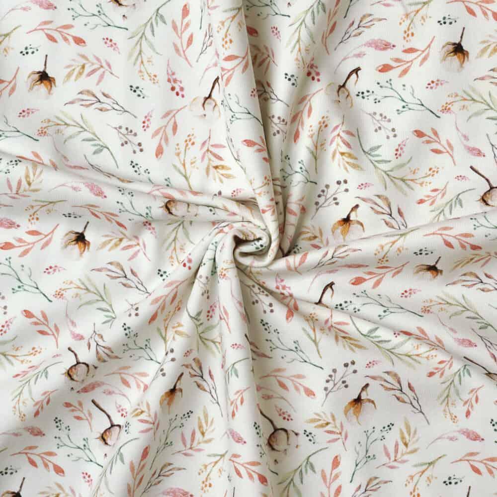 Jersey - Baumwollblüten