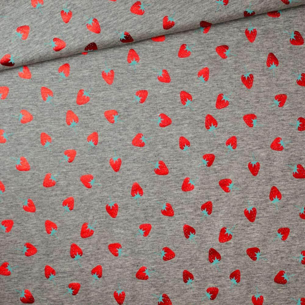 Jersey - Erdbeeren metallic