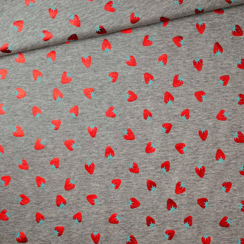 Jersey – Erdbeeren metallic