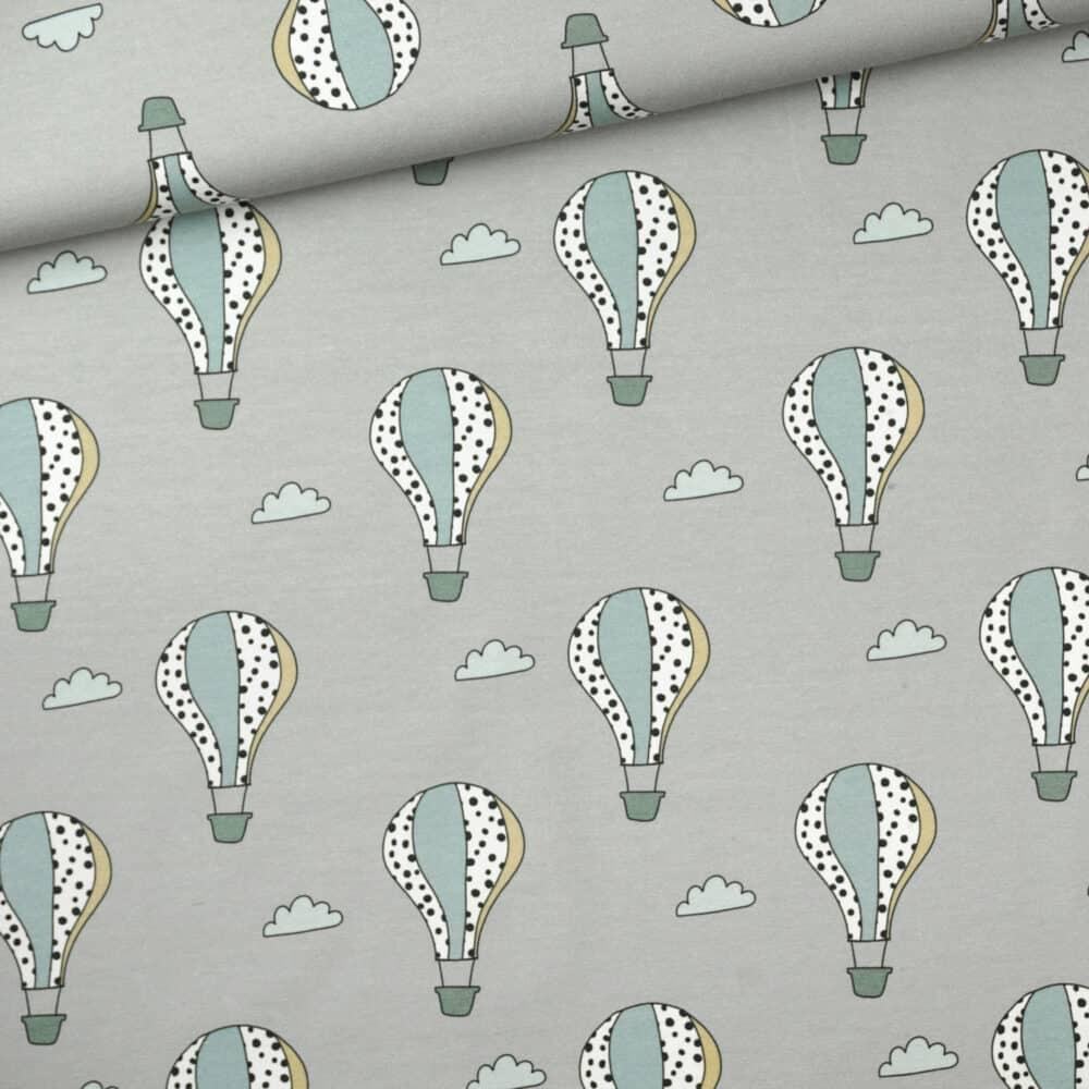 Jersey - Heißluftballons Grau