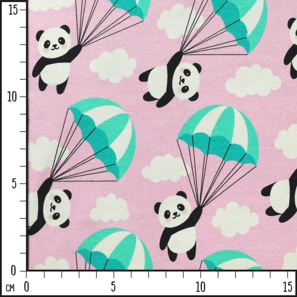 Jersey - Fallschirmpandas rosa