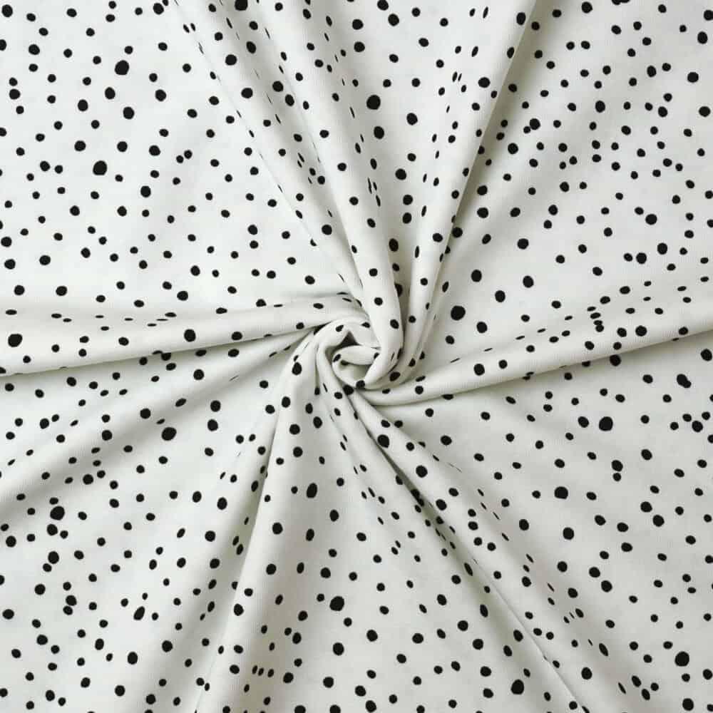 Jersey - Punkte weiß