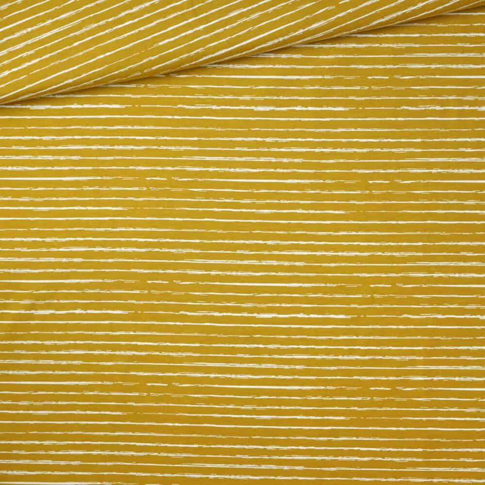 Jersey - Kritzelstreifen senf