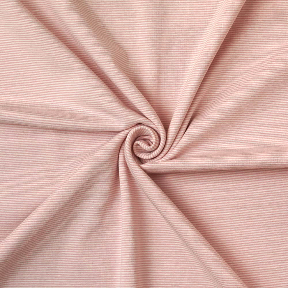 Jersey - Ministreifen rosa