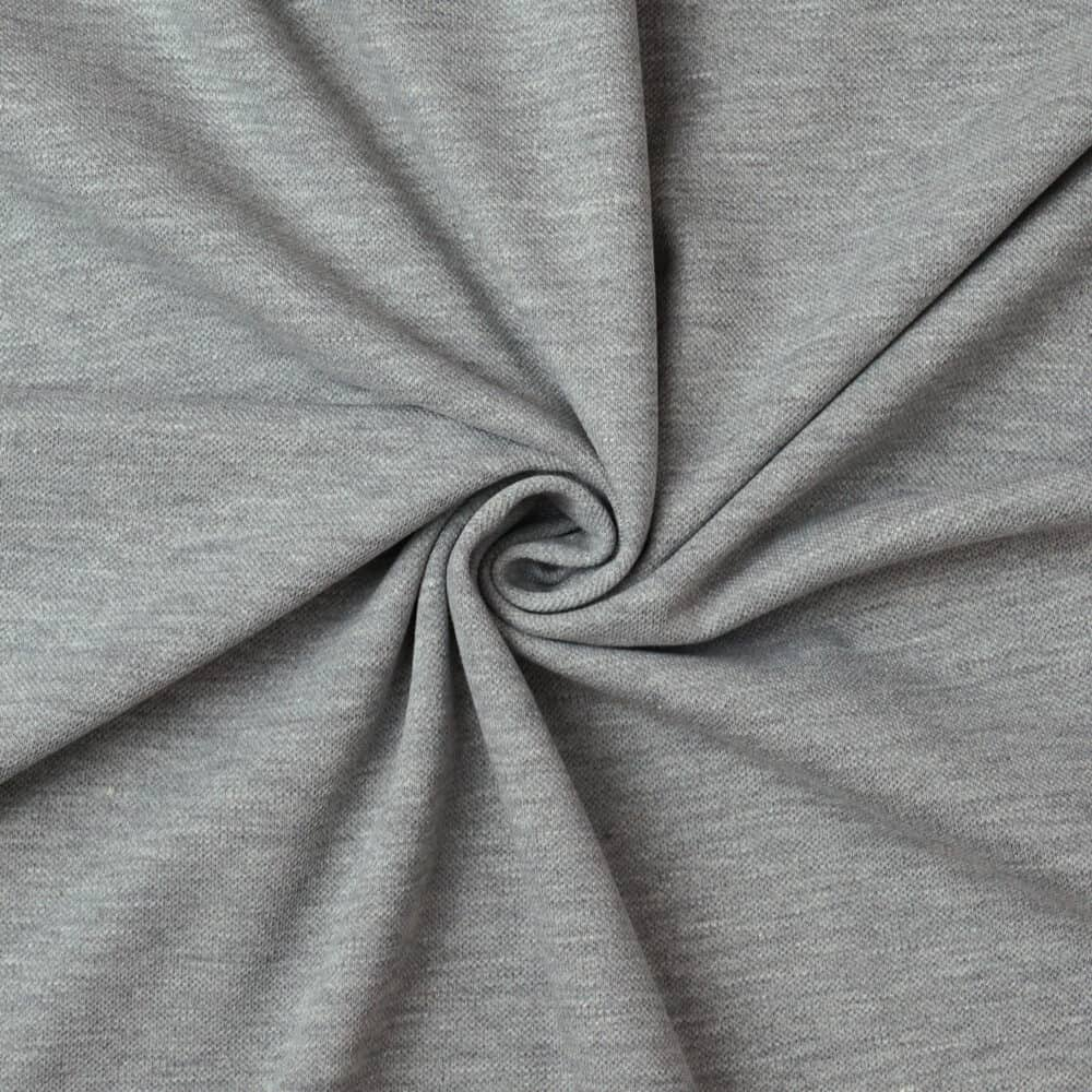 Waffeljersey - Grau meliert