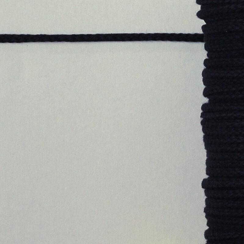 Baumwollkordel - 6mm - schwarz