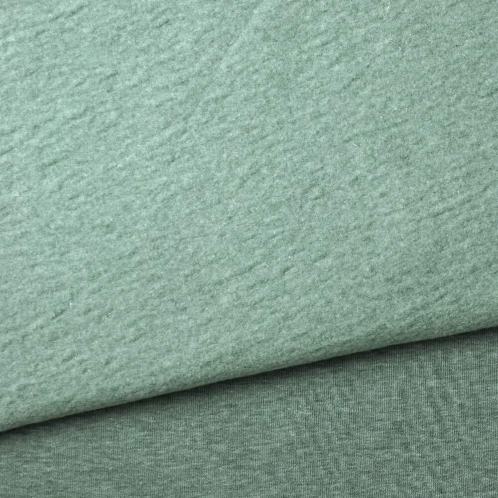 Kuschelsweat - Mint meliert
