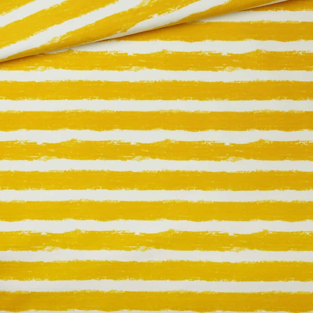 Bio-Sweat - Mellow Stripes - senf - Stoffonkel