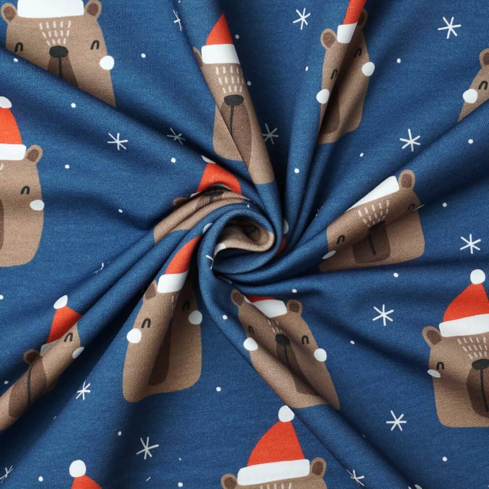 FrenchTerry_ChristmasBearBlau_Swirl