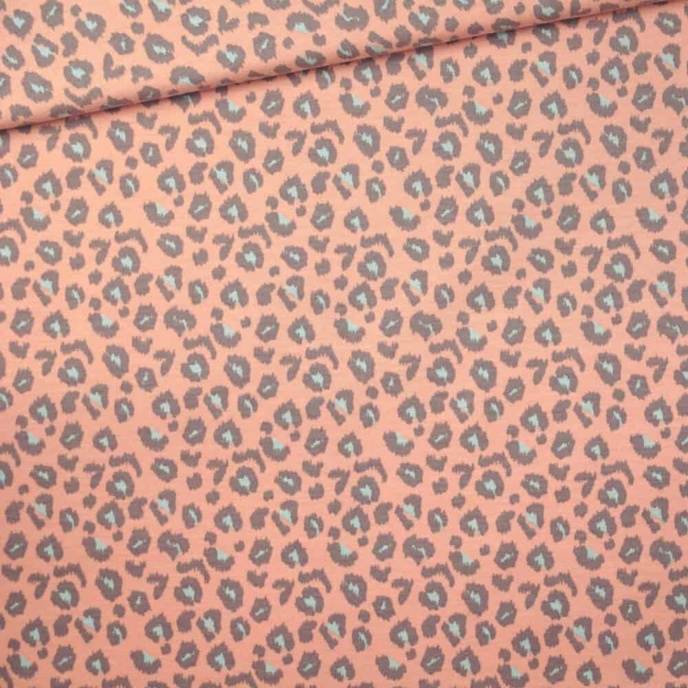 French Terry - Leopard Apricot