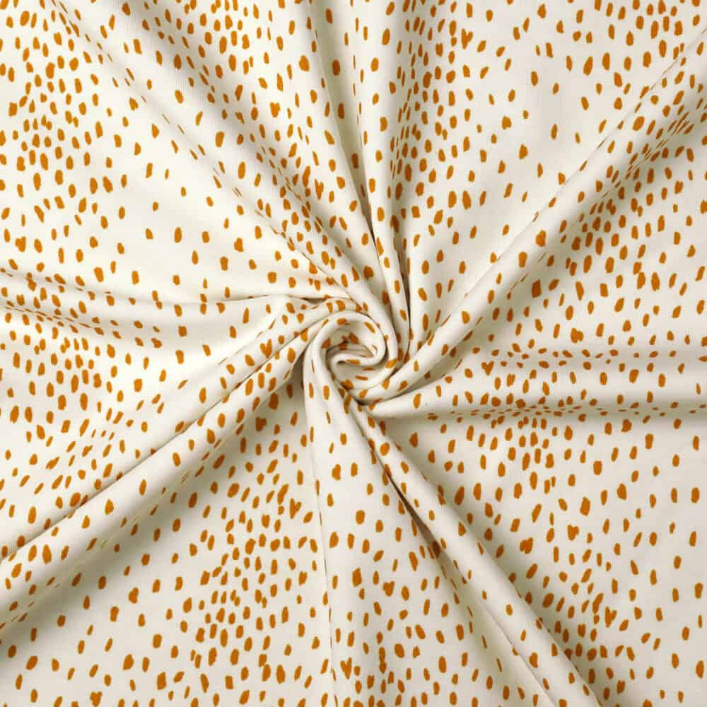 Jersey - Gold Sprinkles - Family Fabrics
