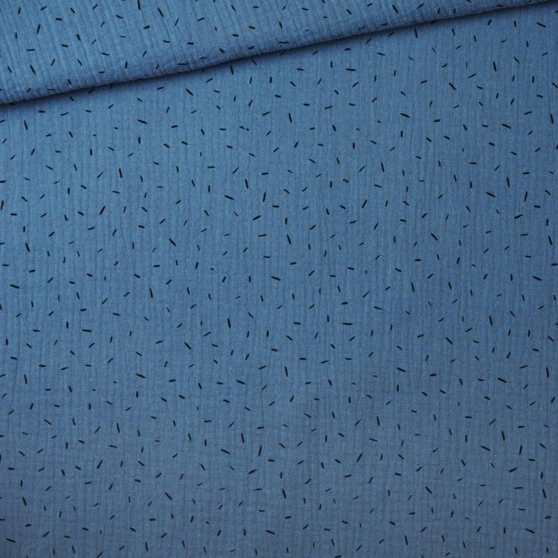 Musselin - Konfetti Jeansblau