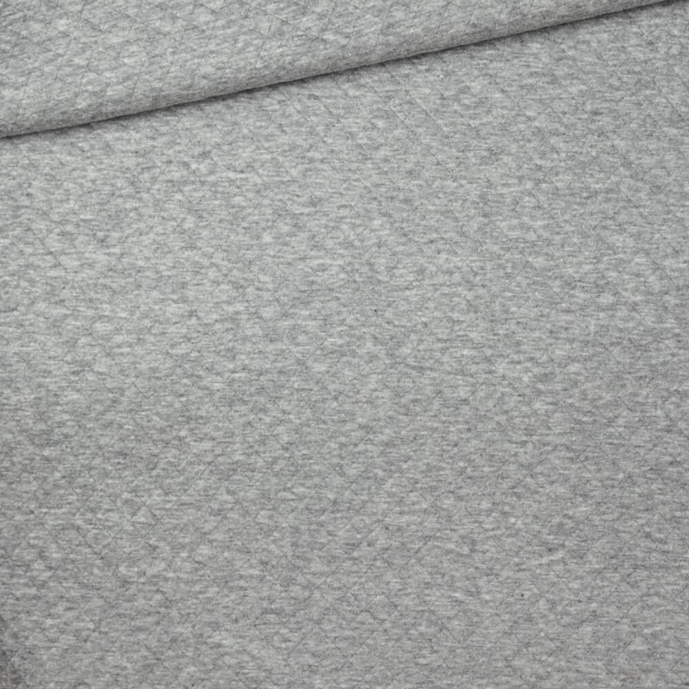 Steppstoff - Hellgrau meliert