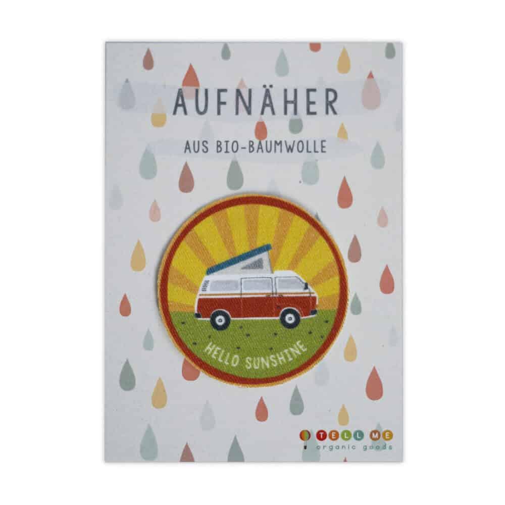 """Aufnäher - Camper """"Hello Sunshine"""" (Bio)"""