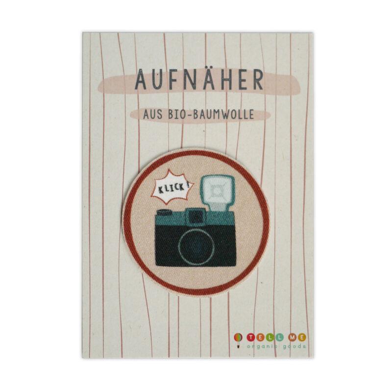 """Aufnäher - Kamera """"Klick"""" (Bio)"""