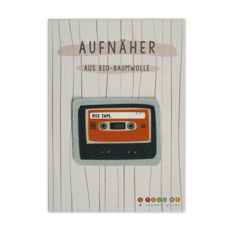 """Aufnäher - Kassette """"Mix Tape"""" (Bio)"""