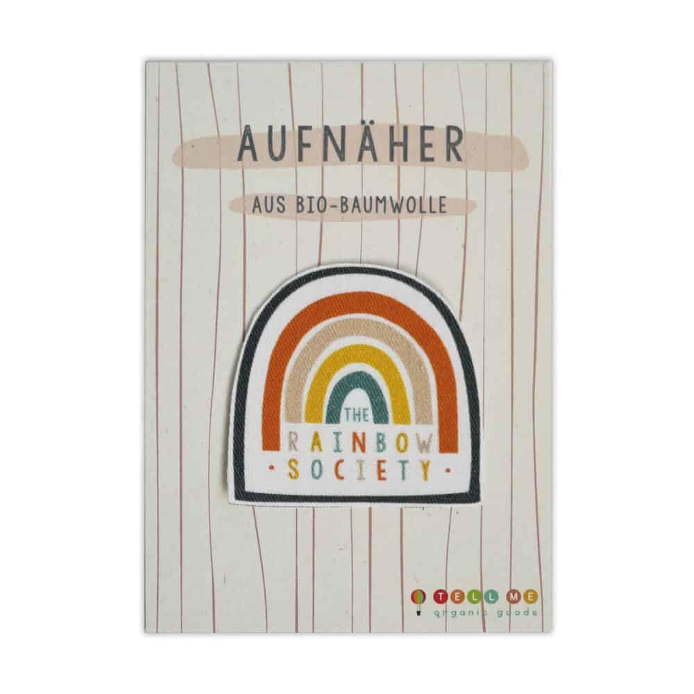 """Aufnäher - Regenbogen """"The Rainbow Society"""" (Bio)"""