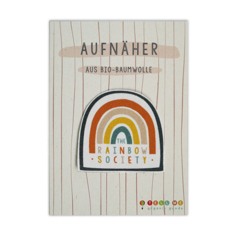 "Aufnäher - Regenbogen ""The Rainbow Society"" (Bio)"