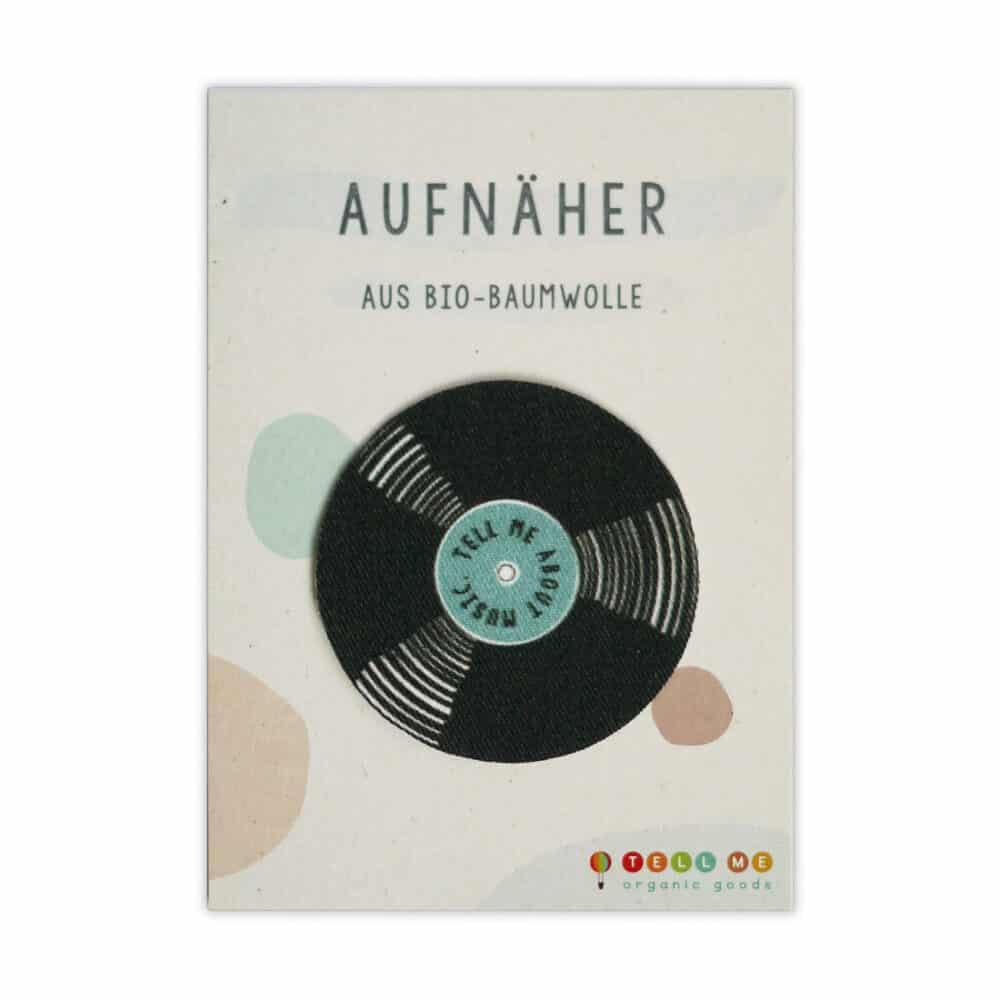 """Aufnäher - Vinyl """"Tell me about Music"""" (Bio)"""