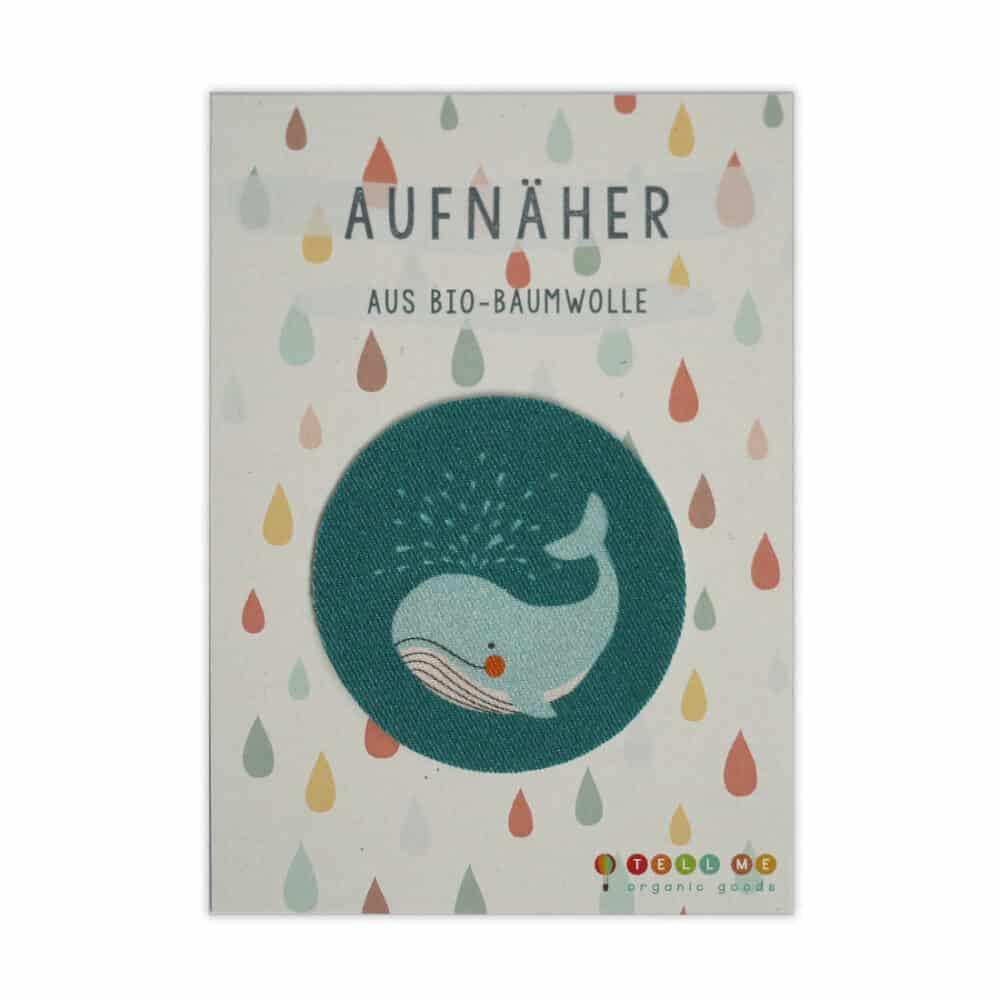 Aufnäher - Wal (Bio)
