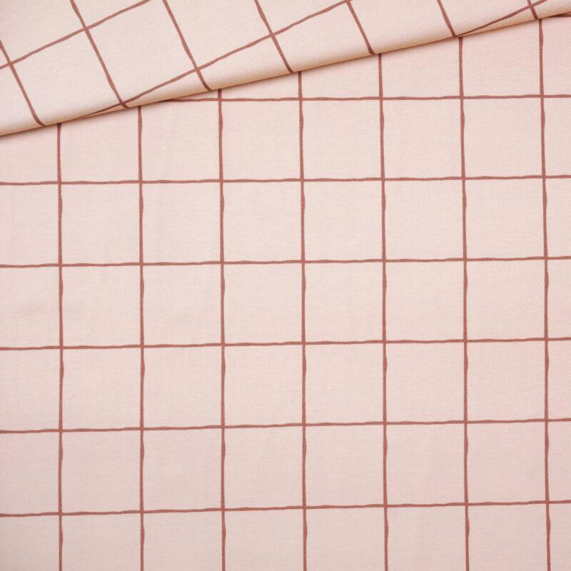 Bio-Jersey - Grid Terracotta