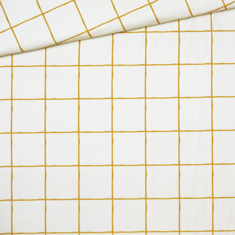 Bio-Jersey - Grid Mustard