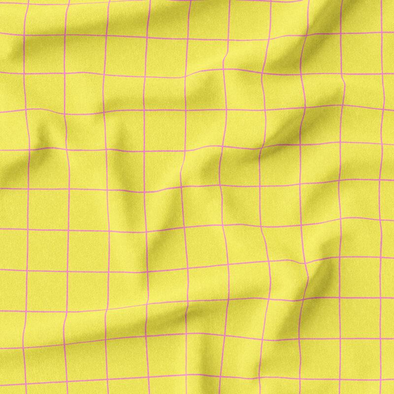 Jersey - Grid Zitronengelb