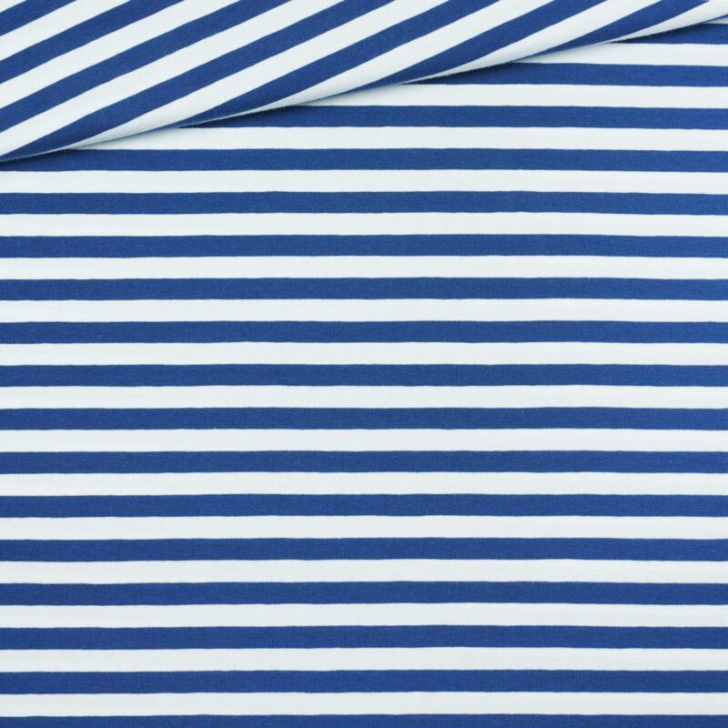 Jersey - Querstreifen blau