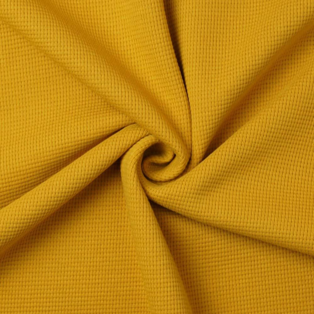 Waffelstrick Jersey - Senf