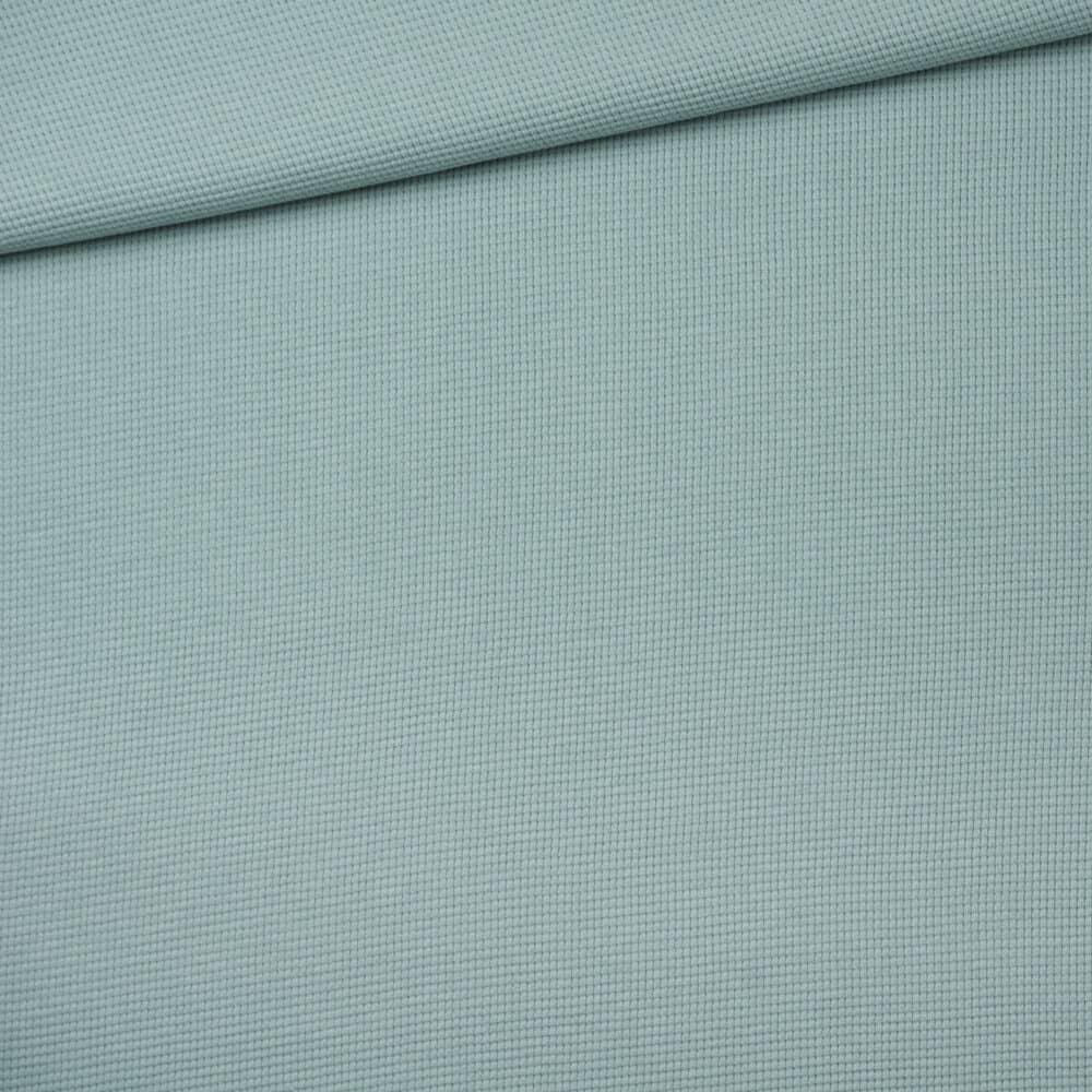 Waffelstrick Jersey - Staubblau