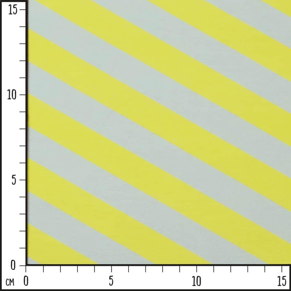 Bio-Jersey - Diagonalstreifen gelb-sand