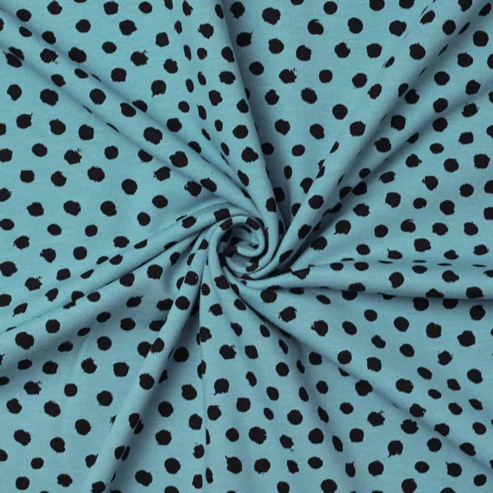 Bio-Jersey - Punkte hellblau