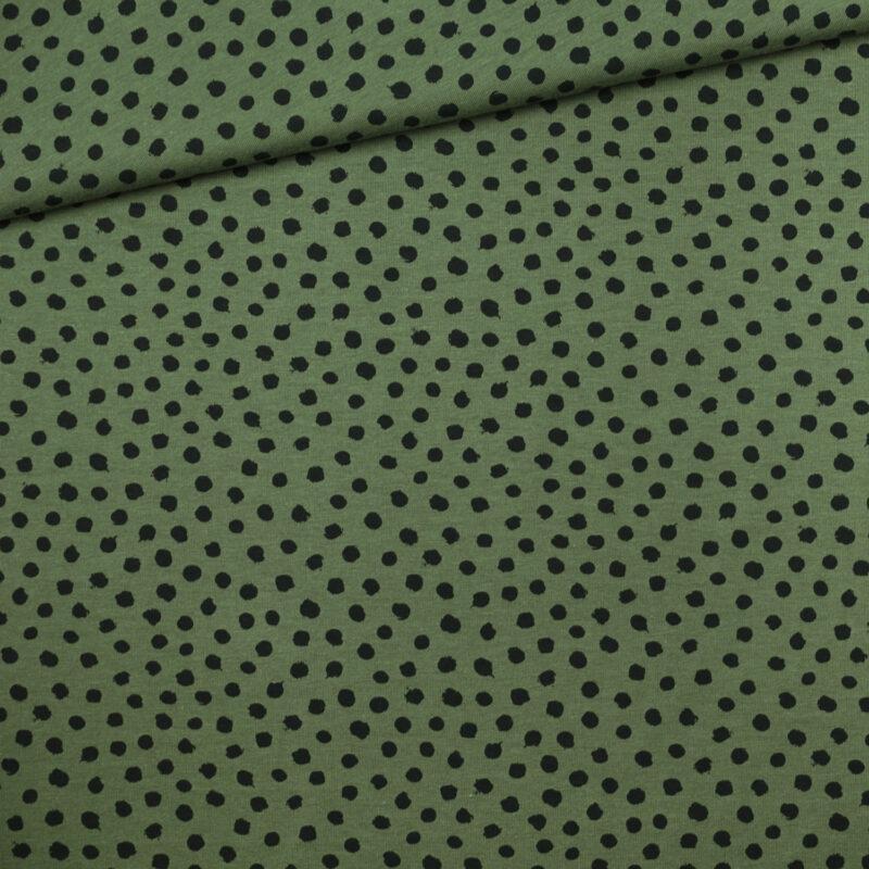 Bio-Jersey - Punkte khaki