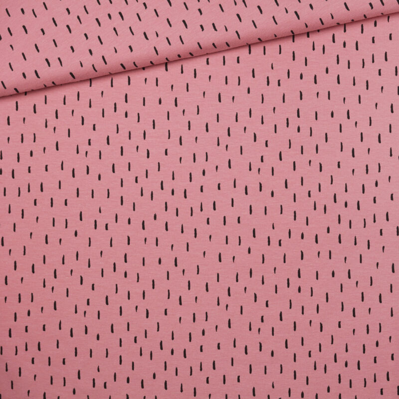 Bio-Jersey - Striche rosa