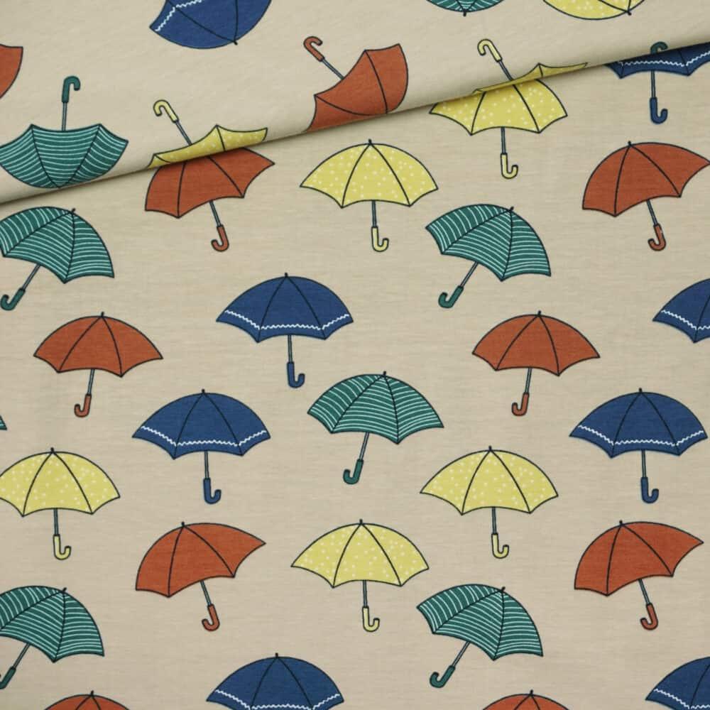 Bio-Jersey - Umbrellas - Elvelyckan Design