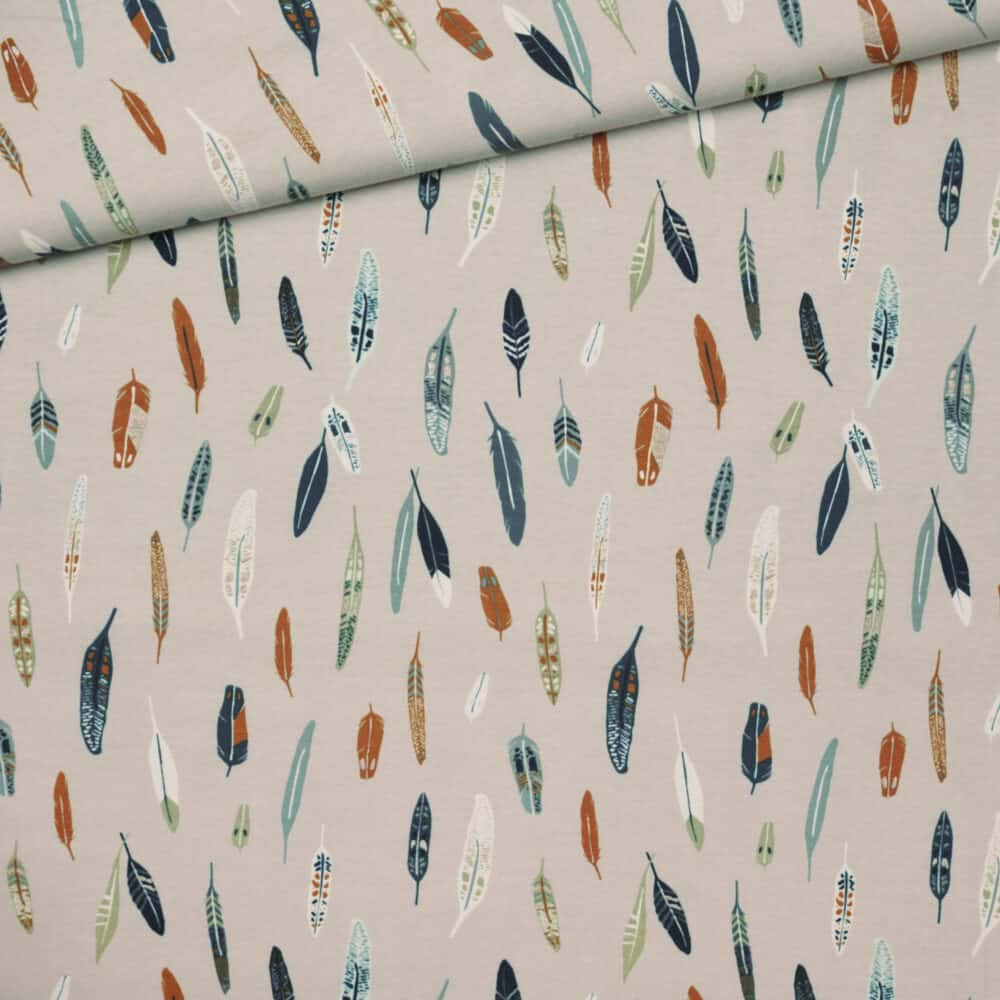 Jersey - Heather & Feathers Dim - Art Gallery Fabrics