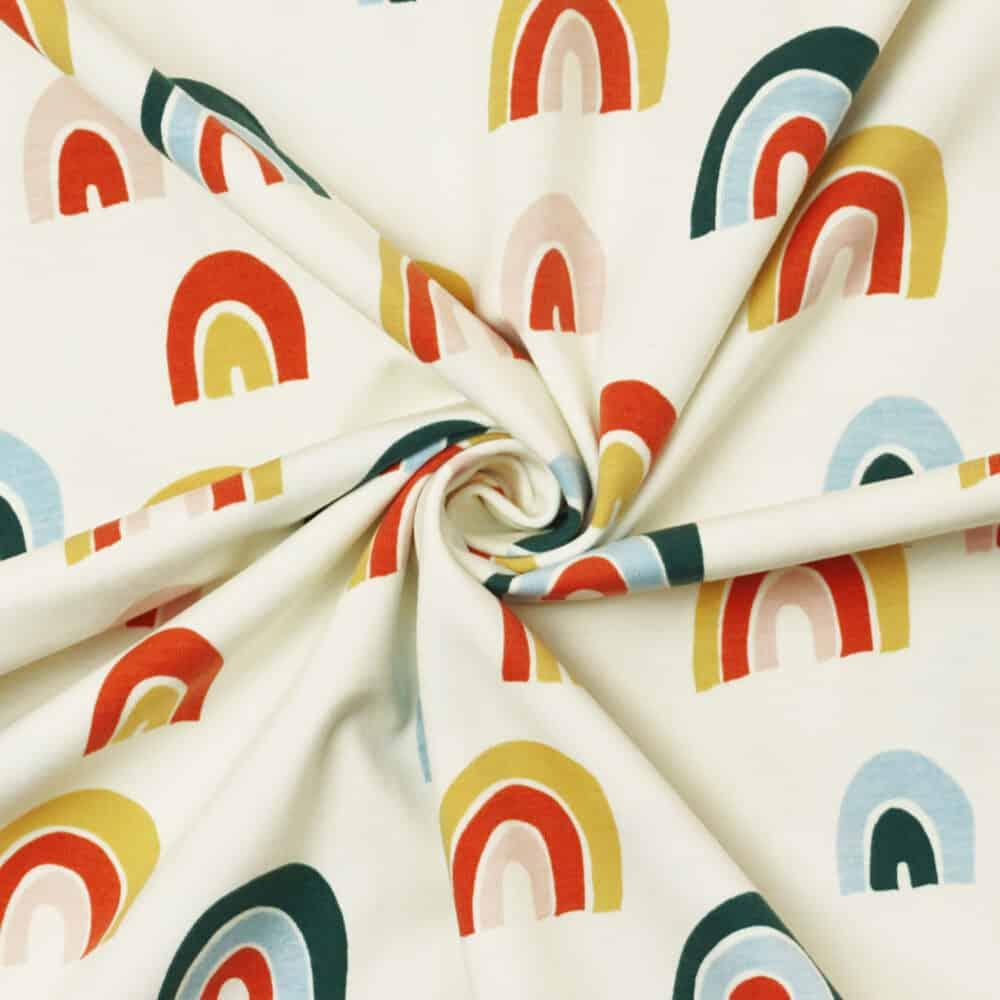 Bio-Jersey - Regenbögen creme - Elvelyckan Design