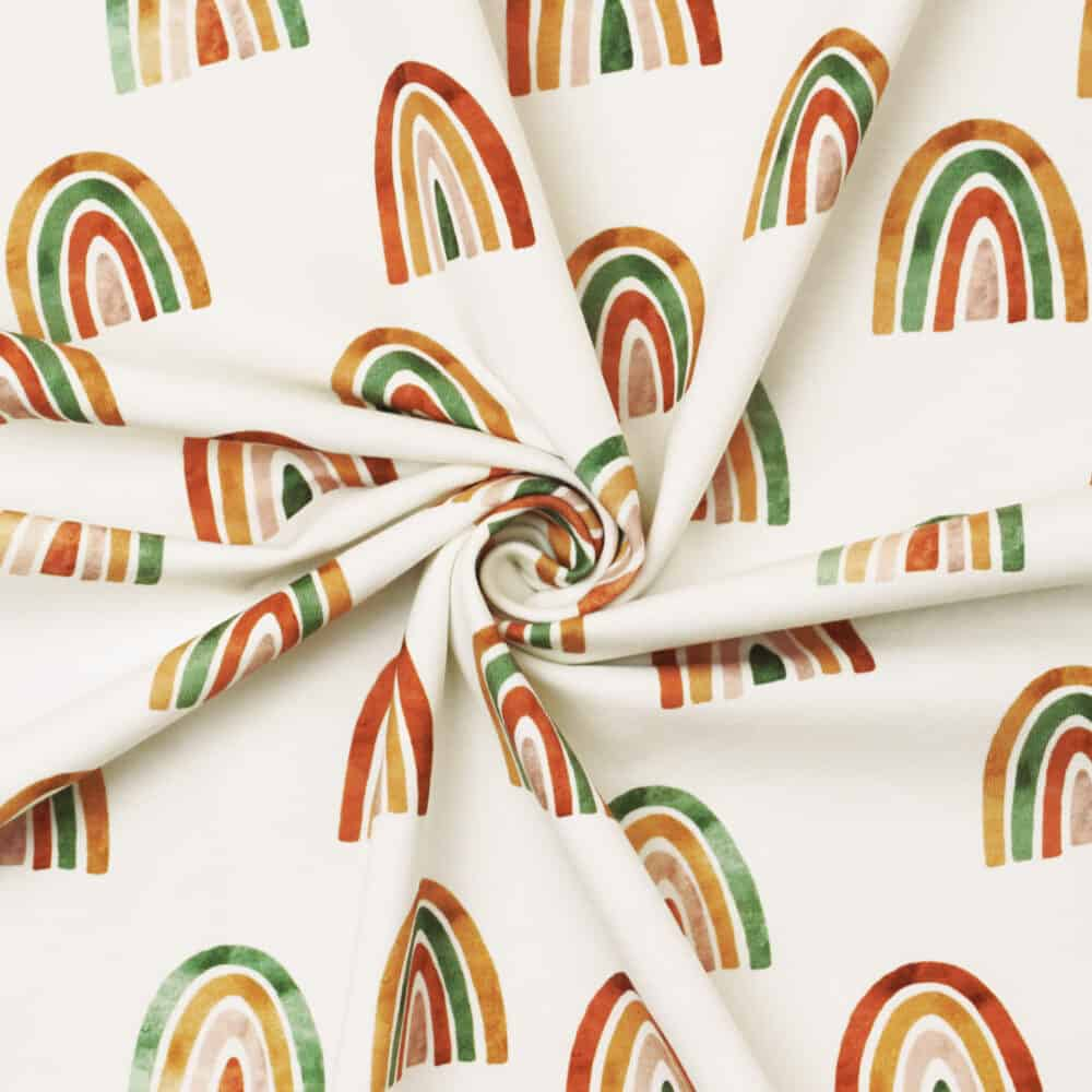 Jersey - Rainbows - Family Fabrics