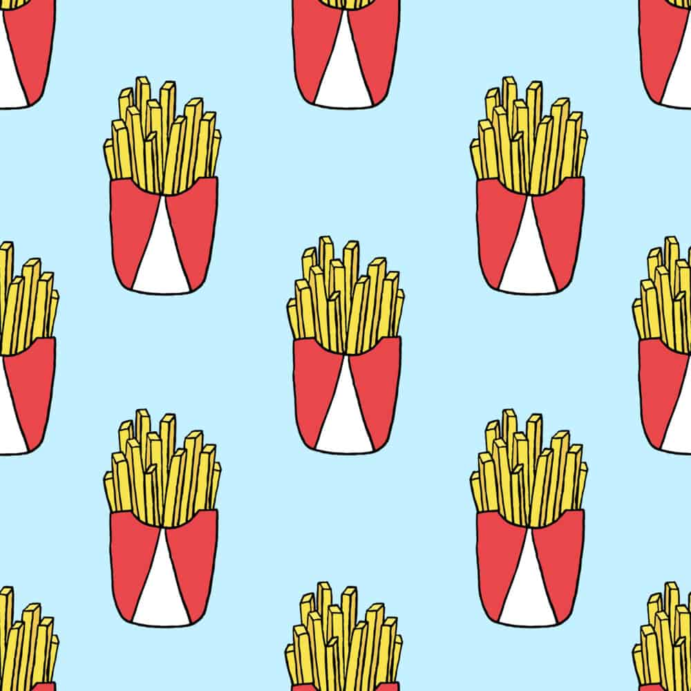 Design - Fries blue